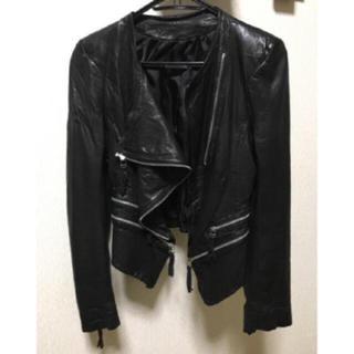LE CIEL BLEU - ♡本日限定お値下♡リアルレザー ライダースジャケット 美品 ブラック 本革♡
