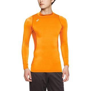 アシックス(asics)の[アシックス] トレーニングウエア ハイネック長袖シャツオレンジS(Tシャツ/カットソー(七分/長袖))