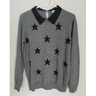 レプシィム(LEPSIM)の星柄 薄手のニット セーター 襟つき(ニット/セーター)