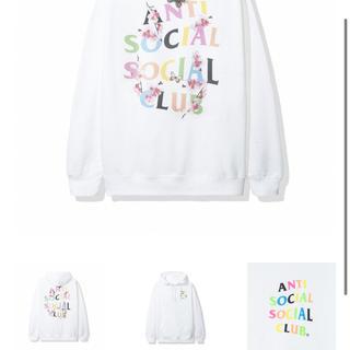 アンチ(ANTI)のanti social social clob White hoody L(パーカー)