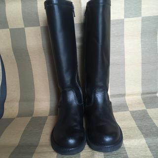 アニエスベー(agnes b.)のアニエスベー ロングブーツ 32 黒(ブーツ)
