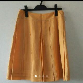 グローブ(grove)の最終値下げ!新品未使用 橙 スカート grove グローブL オレンジ(ひざ丈スカート)