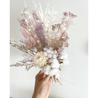 記念日を彩るドライフラワーのミニブーケ  pink beige ver.(ドライフラワー)
