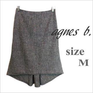 アニエスベー(agnes b.)のagnes b.*ツイード調テールカットスカート*アニエスベー*38 日本製(ひざ丈スカート)