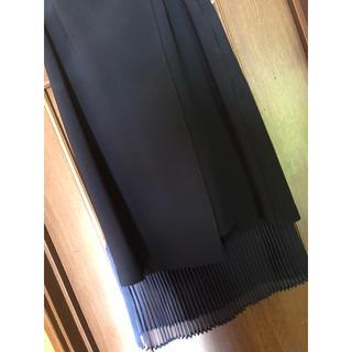 STUDIOUS - ユナイテッドトウキョウダブルクロスプリーツスカート ネイビーサイズ1