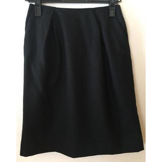 ナチュラルビューティーベーシック(NATURAL BEAUTY BASIC)のNBB ナチュラルビューティーベーシック  ウールタイトスカート ブラック(ひざ丈スカート)