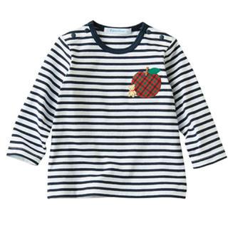 familiar - ❇︎ファミリア ボーダーTシャツ 90 新品 未使用 タグ付き