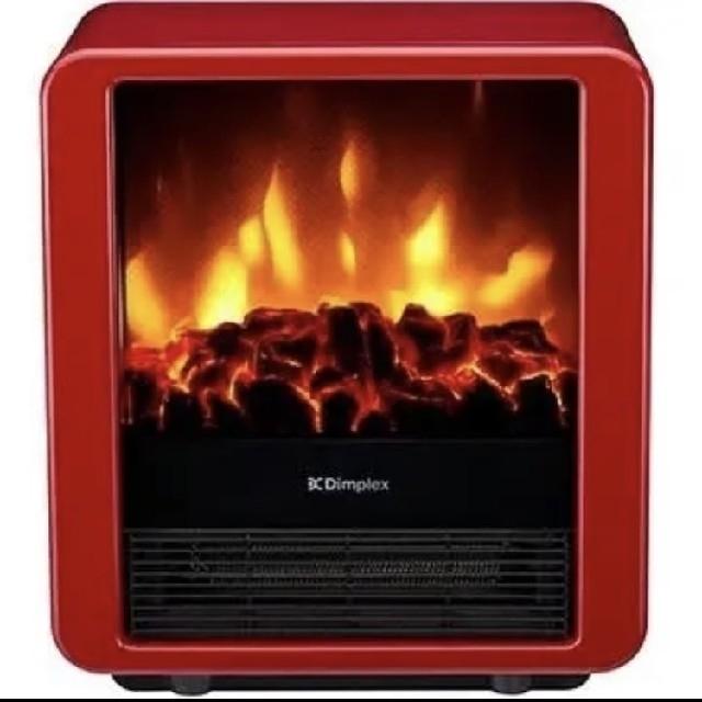 Dimplex 電気暖炉 ファンヒーター MiniCube レッド スマホ/家電/カメラの冷暖房/空調(電気ヒーター)の商品写真