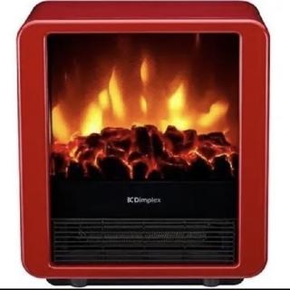 Dimplex 電気暖炉 ファンヒーター MiniCube レッド(電気ヒーター)