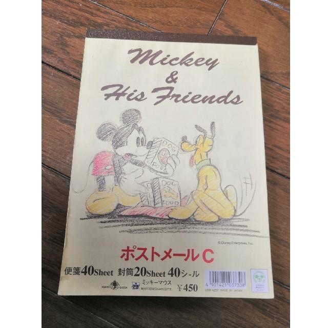 Disney(ディズニー)のミッキー ポストメールC レターセット 便箋 封筒 ハンドメイドの文具/ステーショナリー(カード/レター/ラッピング)の商品写真