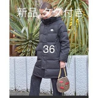 DANTON - 新品 タグ付き DANTON ファー付 ダウンコート ダウンジャケット 黒 36