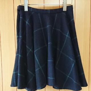 オペーク(OPAQUE)の 美品 オペーク サーキュラー ウール スカート 36(ひざ丈スカート)