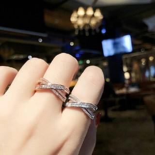 ☆即日発送☆ヒット商品☆デザイン☆指輪 フリーサイズ☆クロスリング5(リング(指輪))