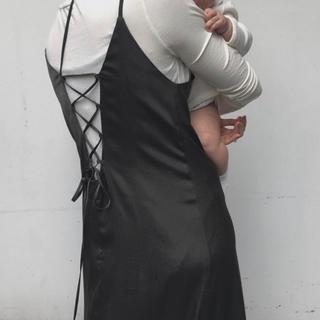 BEAUTY&YOUTH UNITED ARROWS - little suzie  Diagonal Strap Slip Dress
