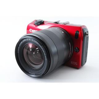 Canon - ★Wi-Fiカード付き★ミラーレス一眼カメラ Canon EOS M レッド