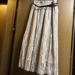 しまむら - しまむら 宮城舞 さん レースプリーツスカート ベージュ M