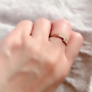 ete - ete ピンクゴールドダイヤモンドリング 13号