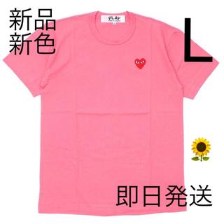 コムデギャルソン(COMME des GARCONS)の即日発送!新色ピンク Lサイズ プレイコムデギャルソン メンズ Tシャツ (Tシャツ/カットソー(半袖/袖なし))
