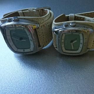 フォッシル(FOSSIL)の FOSSIL ペアウォッチ 美品  (腕時計(アナログ))