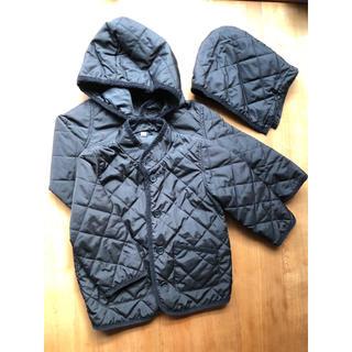 ムジルシリョウヒン(MUJI (無印良品))のキルティングジャケット・ベビー100・黒(2着)(ジャケット/上着)