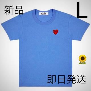 コムデギャルソン(COMME des GARCONS)の即日発送!ブルー Lサイズ プレイコムデギャルソン メンズ Tシャツ (Tシャツ/カットソー(半袖/袖なし))