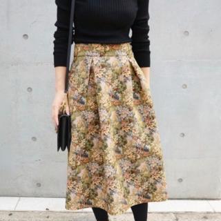 IENA - IENA コブラン織り タックフレアースカート 38