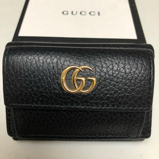 Gucci - グッチ/GUCCI 三つ折り財布 黒