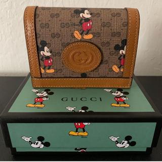 Gucci - 新品 GUCCI グッチ Disney ミッキー 牛革製 レザー ミニ財布