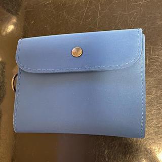 ムジルシリョウヒン(MUJI (無印良品))の無印良品 コンパクトナイロン財布 ブルー(折り財布)