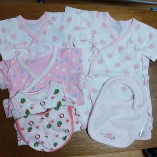 Nishiki Baby - 水玉の新生児肌着(50〜60サイズ)セット/ファミリアスタイは未使用