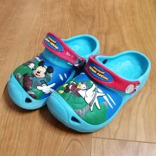 crocs - クロックス ディズニー柄 サンダル C 10 11 ブルー