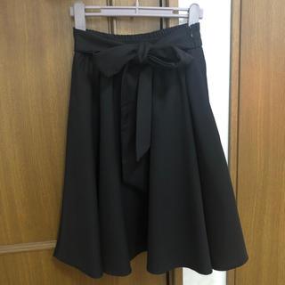 CECIL McBEE - セシルマクビー スカート ブラック 膝丈