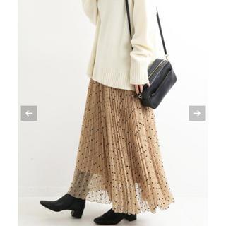 IENA - 新品タグ付き イエナ フロッキーdotプリーツスカート