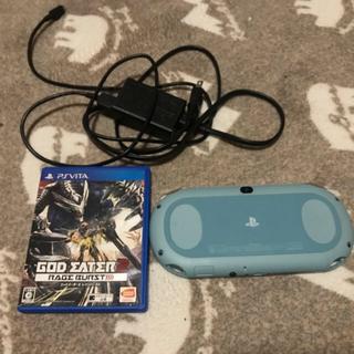 PlayStation Vita - PSVita本体(PCH-2000シリーズ)ライトブルー/ホワイトソフト+充電器