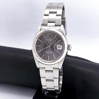 ROLEX - 【OH済ベルト2種】ロレックス デイト 自動巻 グレー文字盤 メンズ 腕時計