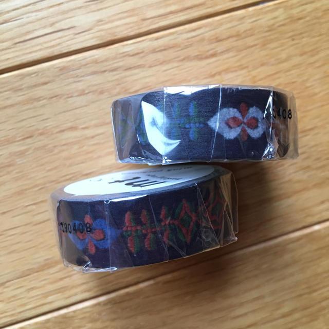 mina perhonen(ミナペルホネン)のmtミナペルホネン  マスキングテープ petal flame 2個セット インテリア/住まい/日用品の文房具(テープ/マスキングテープ)の商品写真