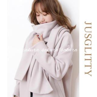 JUSGLITTY - ジャスグリッティー♡ストール付2WAYコート♡
