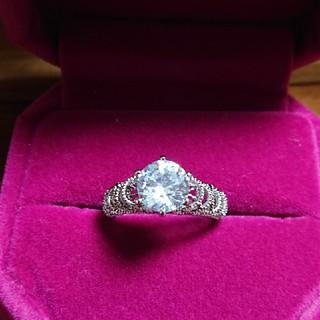 タイムセール!silver925大粒キュービックジルコニアの指輪(13号)(リング(指輪))