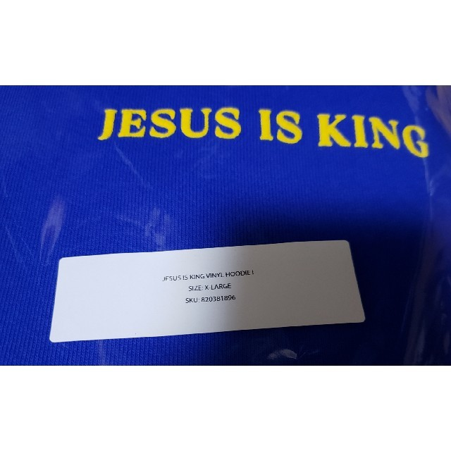 [新品] JESUS IS KING VINYL HOODIE ② メンズのトップス(パーカー)の商品写真
