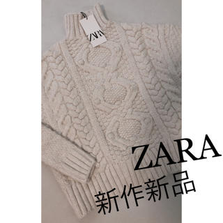 ZARA - ZARA 新作新品 ケーブルニットセーター S