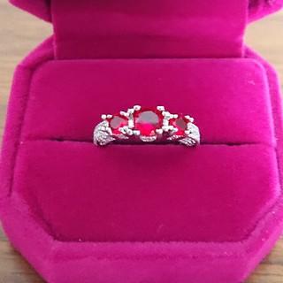 silver925赤い石の指輪(13号)(リング(指輪))