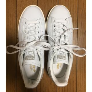 アディダス(adidas)のスタンスミス ホワイト×グレー 23.5(スニーカー)
