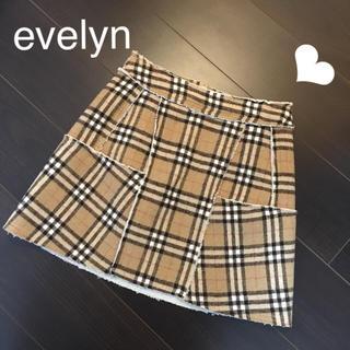 evelyn - 極美品 evelyn♡ボアチェック台形スカート
