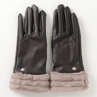 MARY QUANT - 新品 マリークワント  手袋 ラインファー ブラウン