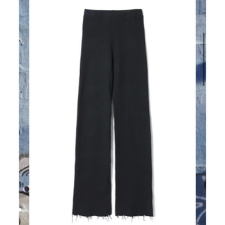 BEAUTY&YOUTH UNITED ARROWS - perverze wool rib line pants black