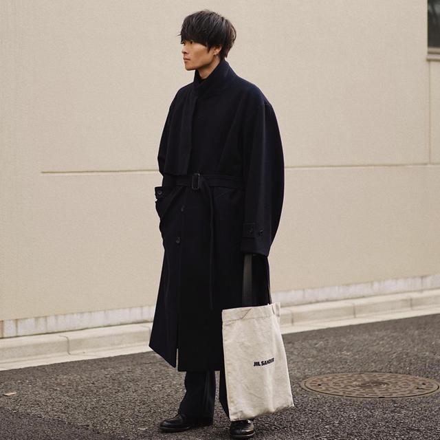 SUNSEA(サンシー)の19AW stein LAY CHESTER COAT DARK NAVY メンズのジャケット/アウター(チェスターコート)の商品写真