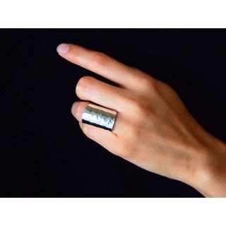 指が細く見える幅広リング【シルバー925】(リング(指輪))