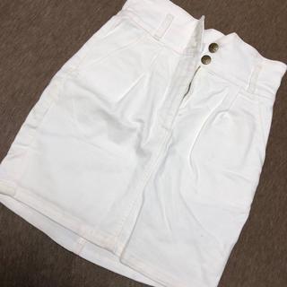 moussy - moussy 白デニムスカート