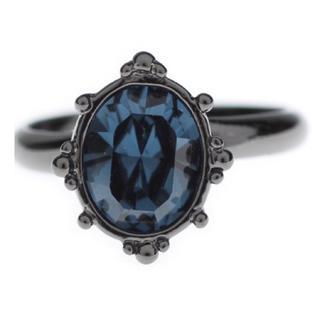 アナスイ(ANNA SUI)のANNA SUI  ストーンリング ブルー ネイビー 青 紺(リング(指輪))