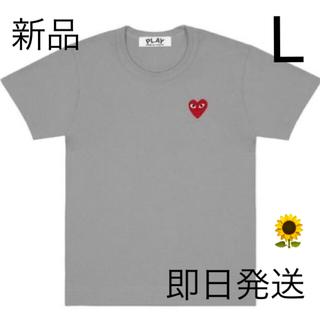 コムデギャルソン(COMME des GARCONS)の即日発送!グレー Lサイズ プレイコムデギャルソン メンズ Tシャツ (Tシャツ/カットソー(半袖/袖なし))